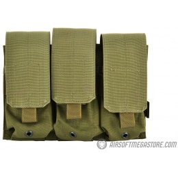 Flyye Industries MOLLE Triple M4 Magazine Pouch - RANGER GREEN