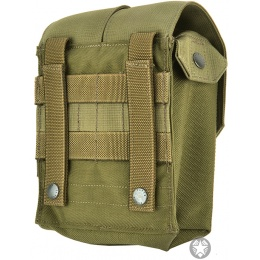 Flyye Industries MOLLE M249 200rd Drum Magazine Pouch - RANGER GREEN