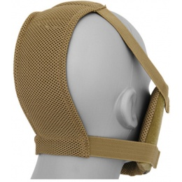 Black Bear Airsoft RAVEN Steel Mesh Padded Full Face Mask - TAN