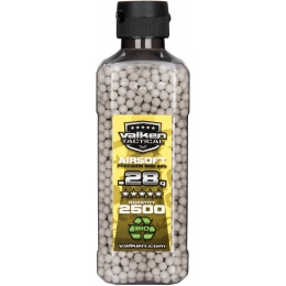 Valken Tactical 0.28g Biodegradable BB Bottle - 2500rds - WHITE