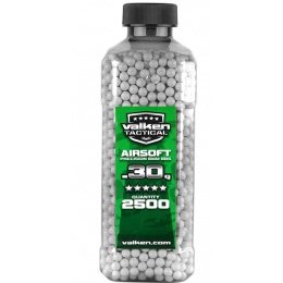 Valken Tactical 0.30g Seamless 6mm Airsoft BBs - 2500rd Bottle