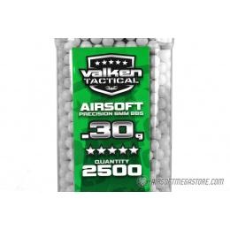 Valken Tactical 0.30g Seamless 6mm Airsoft BBs - 2500rd Bottle