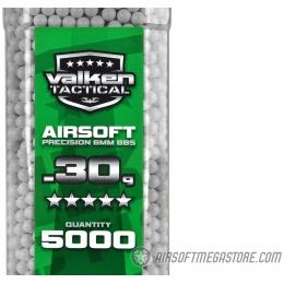 Valken Tactical 0.30g Seamless 6mm Airsoft BBs - 5000rd Bottle