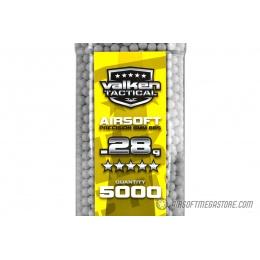 Valken Tactical 0.28g Seamless 6mm Airsoft BBs - 5000rd Bottle