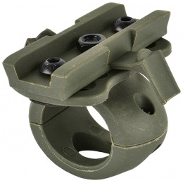 Valken Tactical Airsoft Helmet Swivel 20mm Flashlight Clamp - FOLIAGE