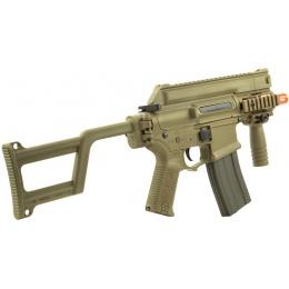 ARES Amoeba M4 CCR Airsoft CQB Machine Pistol AEG Gun w/ EFCS - TAN