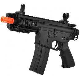 AY Full Metal M4 Baby CQB Pistol Airsoft AEG Gun w/ PEQ Battery Box