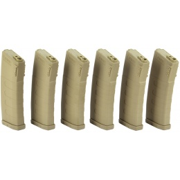 6X KWA K120 120rd M4 / M16 Mid-Cap AEG Rifle Magazines - DARK EARTH