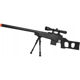 WellFire MB4408D MK96 Covert Airsoft Sniper Rifle w/ Scope & Bipod