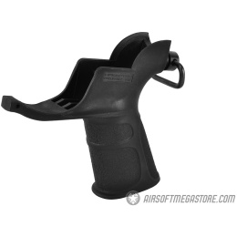 APS M4 Trigger Guard Airsoft AEG Motor Grip w/ QD Sling Mount - BLACK