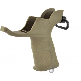 APS M4 Trigger Guard Airsoft AEG Motor Grip w/ QD Sling Mount - TAN