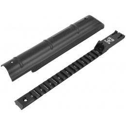 APS Airsoft AK74 AEG Top Receiver Rail Cover w/ Fixed Rear Sight