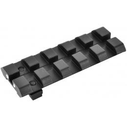 APS Airsoft ACP 5 Slot Picatinny 20mm Adapter Rail Sight - BLACK