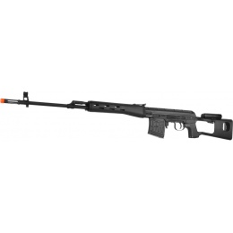 King Arms Licensed Kalashnikov SVD CO2 Airsoft Sniper Rifle - BLACK