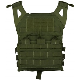 Jagun Tactical MOLLE Airsoft JPC Tactical Vest w/ Dummy Plates - OD GREEN