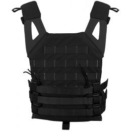 Jagun Tactical MOLLE Airsoft JPC Tactical Vest w/ Dummy Plates - BLACK