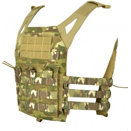Jagun Tactical MOLLE Airsoft JPC Tactical Vest w/ Dummy Plates - LAND CAMO