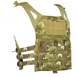 Jagun Tactical MOLLE Airsoft JPC Plate Carrier w/ Dummy Plates - LAND CAMO