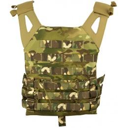 Jagun Tactical MOLLE Airsoft JPC Tactical Vest w/ Dummy Plates - LAND CAMO