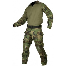 Jagun Tactical Gen 3 Airsoft Combat Pants and Shirt BDU - WOODLAND