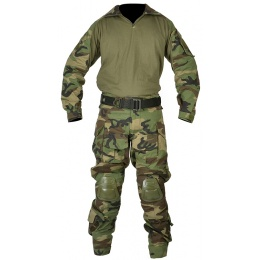 Jagun Tactical Gen 3 Airsoft Combat Pants and Shirt BDU - WOODLAND