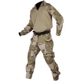 Jagun Tactical Gen 3 Airsoft Combat Pants and Shirt BDU - DESERT 3 COLOR