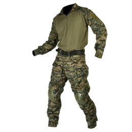Jagun Tactical Gen 3 Airsoft Combat Pants and Shirt BDU - JUNGLE DIGITAL