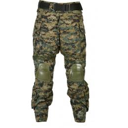Jagun Tactical Gen 3 Airsoft Combat Pants and Shirt BDU - JUNGLE DIGITAL