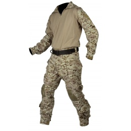 Jagun Tactical Gen 3 Airsoft Combat Pants and Shirt BDU - DIGITAL DESERT
