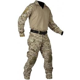Jagun Tactical Gen 3 Airsoft Combat Pants and Shirt BDU - DIGITAL DESERT