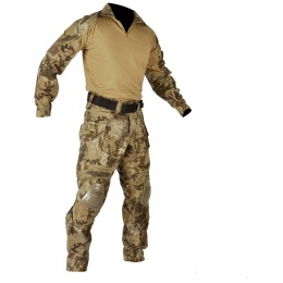 Jagun Tactical Gen 3 Airsoft Combat Pants and Shirt BDU - HLD CAMO