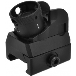 Golden Eagle Full Metal Diopter Style Rear Sight - Black