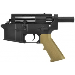 Golden Eagle Metal Gearbox Complete Polymer Lower Receiver  - Tan