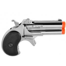 ASG Marushin 6mm Derringer Gas Powered Airsoft NBB Pistol - CHROME