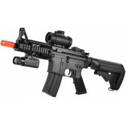 ASG DS4 CQB M4 Airsoft LPEG AEG w/ Red Dot & Tactical Flashlight