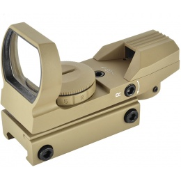 NcStar 4-Reticle Green / Red Reflex Rail-Mounted Sight - TAN