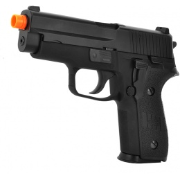 WE Tech F228 Series Gas Blowback GBB Airsoft Pistol - BLACK