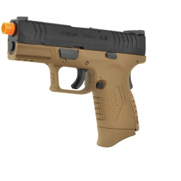 WE Tech X-Tactical 3.8 Compact Gas Blowback GBB Airsoft Pistol - TAN