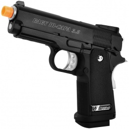 WE Airsoft 3.8 Baby Hi-Capa Metal GBB Gas Blowback Pistol - Black