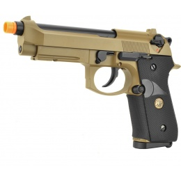 WE Tech Full Metal M9A1 M.E.U. CO2 Blowback Airsoft Pistol - TAN