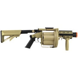 ICS Airsoft M32A1 GLM 6-Round Revolving Grenade Launcher - TAN