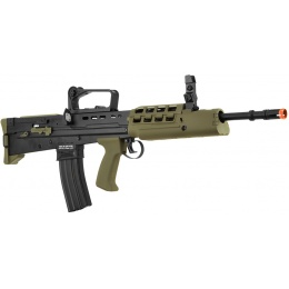 ICS L85 A2 Metal Full Length Bullpup Airsoft AEG Rifle - BLACK/OD