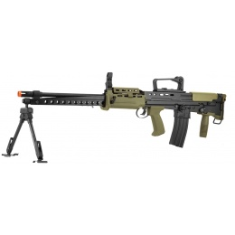ICS L86 A2 Light Support Weapon Bullpup LSW Airsoft AEG Rifle - BLACK/OD