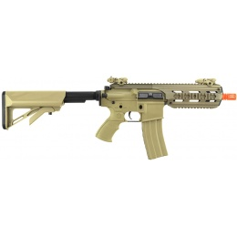 ICS Full Metal CXP-16S Short Proline M4 RIS Airsoft AEG Rifle - TAN