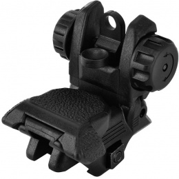 ICS CXP Series M4 / M16 Airsoft Flip-Up Rear Iron Sight - BLACK