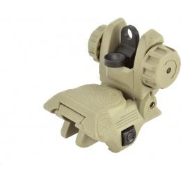 ICS CXP Series M4 / M16 Airsoft Flip-Up Rear Iron Sight - TAN