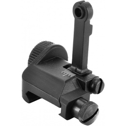 ICS Full Metal M4 / M16 Flip-up Mini Airsoft Back Up Rear Iron Sight