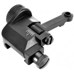 ICS Full Metal M4 / M16 Flip-up Mini Airsoft Back Up Rear Iron Sight