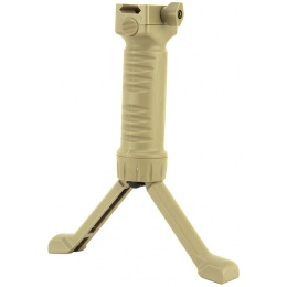 ICS Rapid Deploy Tactical Airsoft Foregrip Bipod System - TAN