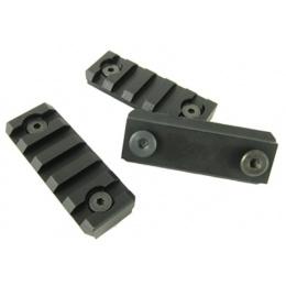 ICS Airsoft Metal KeyMod 5 Slot Rail Segment 3-Piece Set - BLACK